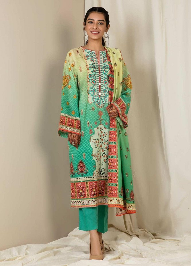 Zellbury Embroidered Lawn Unstitched 3 Piece Suit ZB21L Wusce-870 - Summer Collection