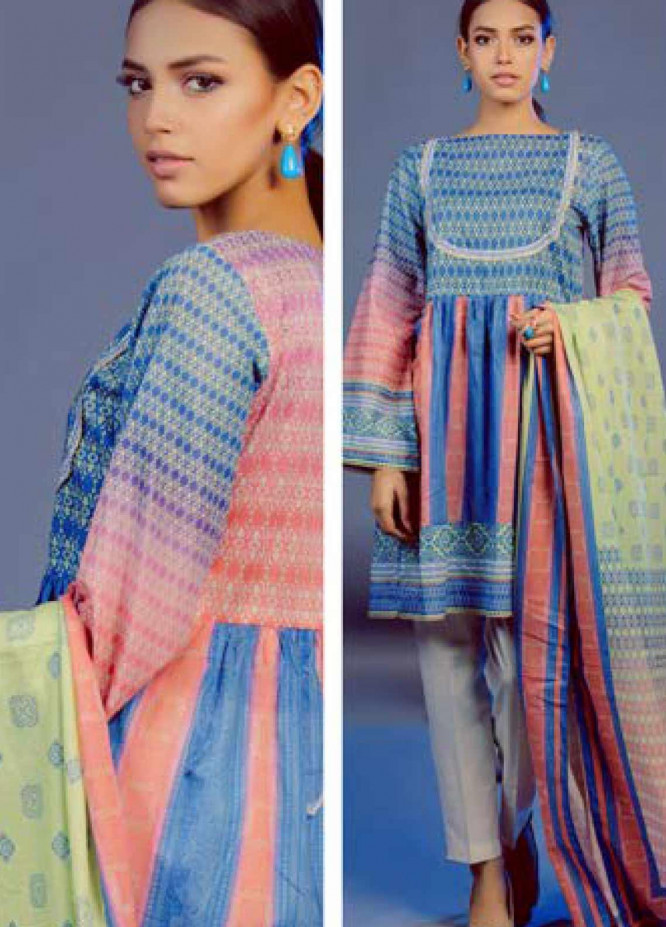 Zellbury Printed Lawn Unstitched 3 Piece Suit ZB20L ZW320130 - Spring / Summer Collection