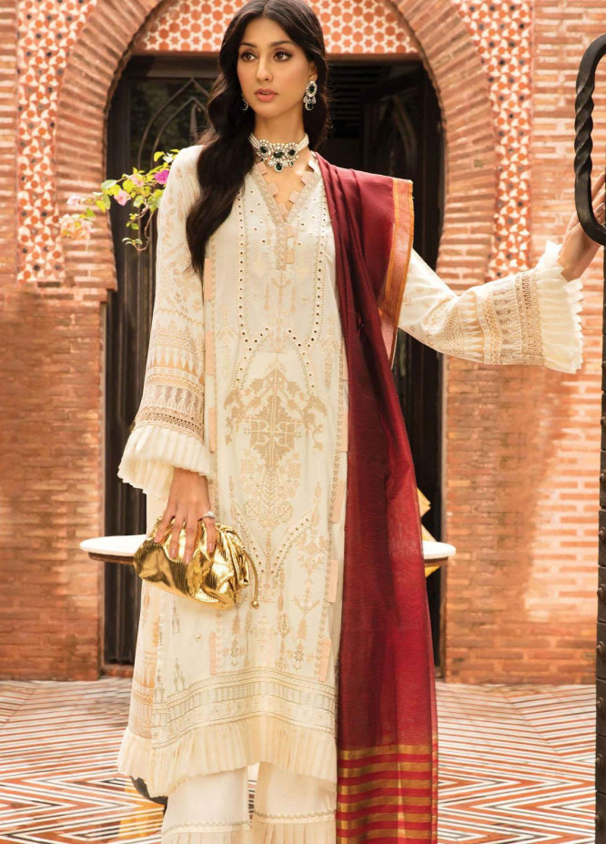 Zinnia by Rang Rasiya Embroidered Linen Suits Unstitched 3 Piece RR21ZN ALLURE-01 - Winter Collection