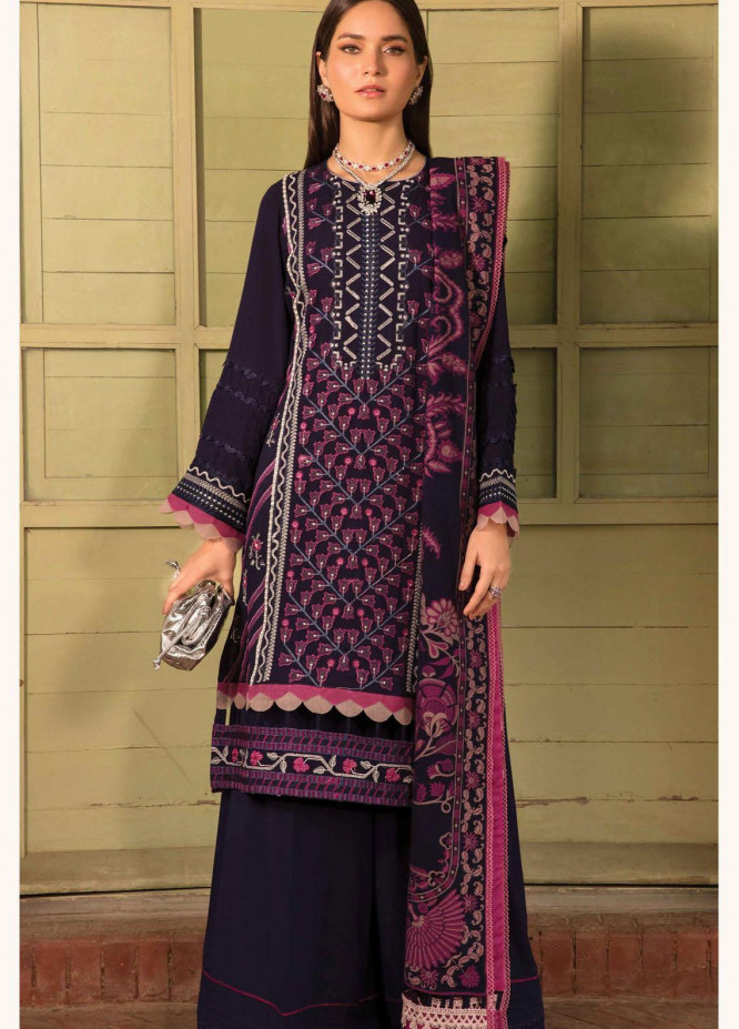 Zinnia by Rang Rasiya Embroidered Dobby Linen Suits Unstitched 3 Piece RR21ZN FAREESIA-09 - Winter Collection