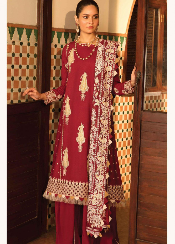 Zinnia by Rang Rasiya Embroidered Dobby Linen Suits Unstitched 3 Piece RR21ZN GRACE-11 - Winter Collection