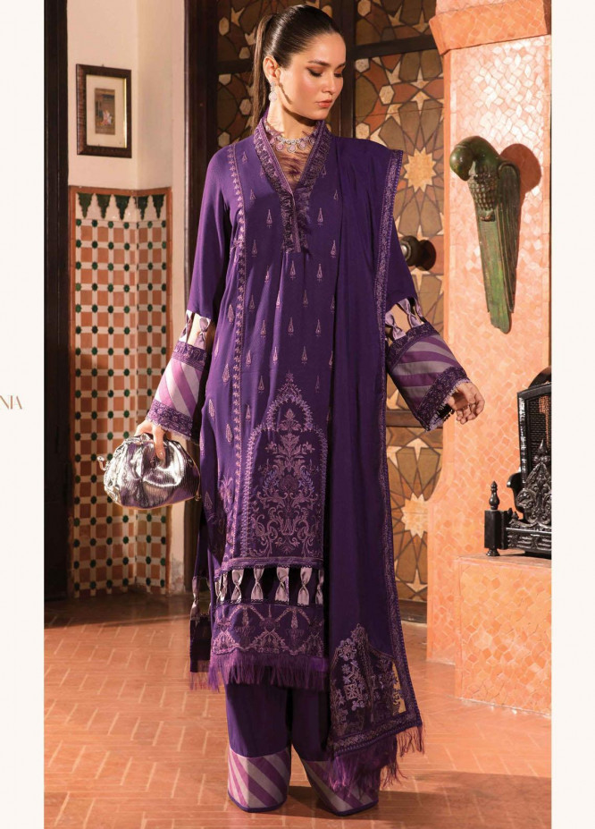 Zinnia by Rang Rasiya Embroidered Dobby Linen Suits Unstitched 3 Piece RR21ZN MERAKI-08 - Winter Collection
