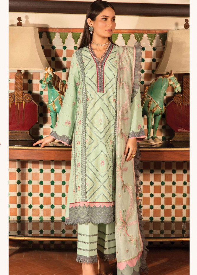 Zinnia by Rang Rasiya Embroidered Dobby Linen Suits Unstitched 3 Piece RR21ZN OLIVIA-05 - Winter Collection