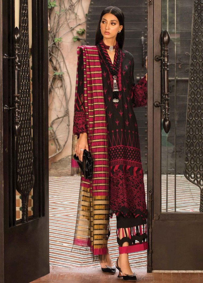 Zinnia by Rang Rasiya Embroidered Dobby Linen Suits Unstitched 3 Piece RR21ZN SALVA-02 - Winter Collection