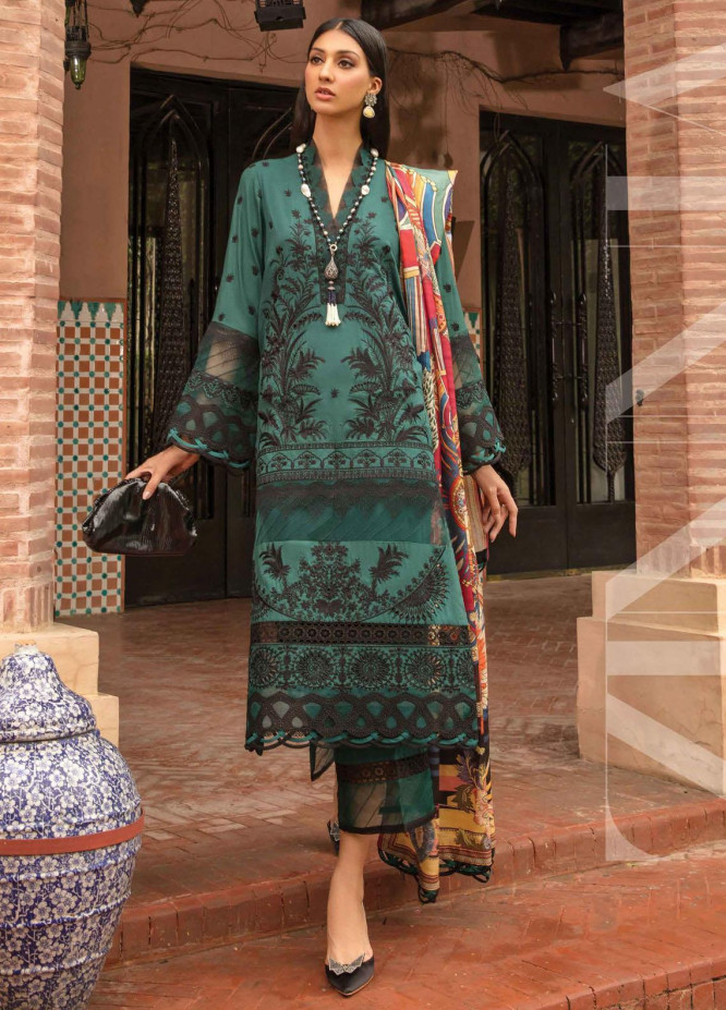 Zinnia by Rang Rasiya Embroidered Dobby Linen Suits Unstitched 3 Piece RR21ZN TRIVIA-10 - Winter Collection
