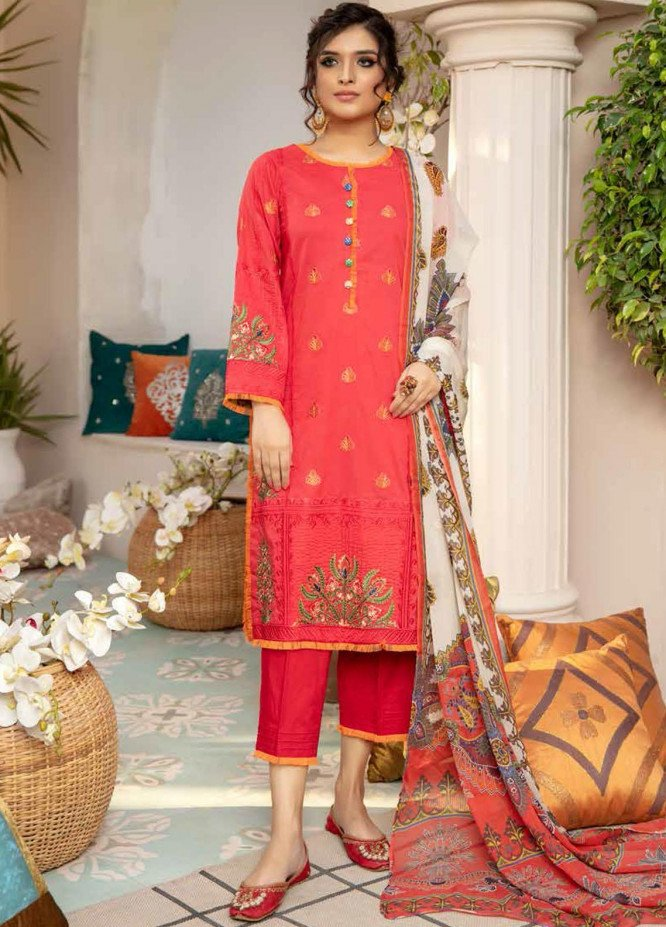 Zoha by Aymen Baloch Embroidered Lawn Suits Unstitched 3 Piece ZAB21FP 094 - Festive Collection