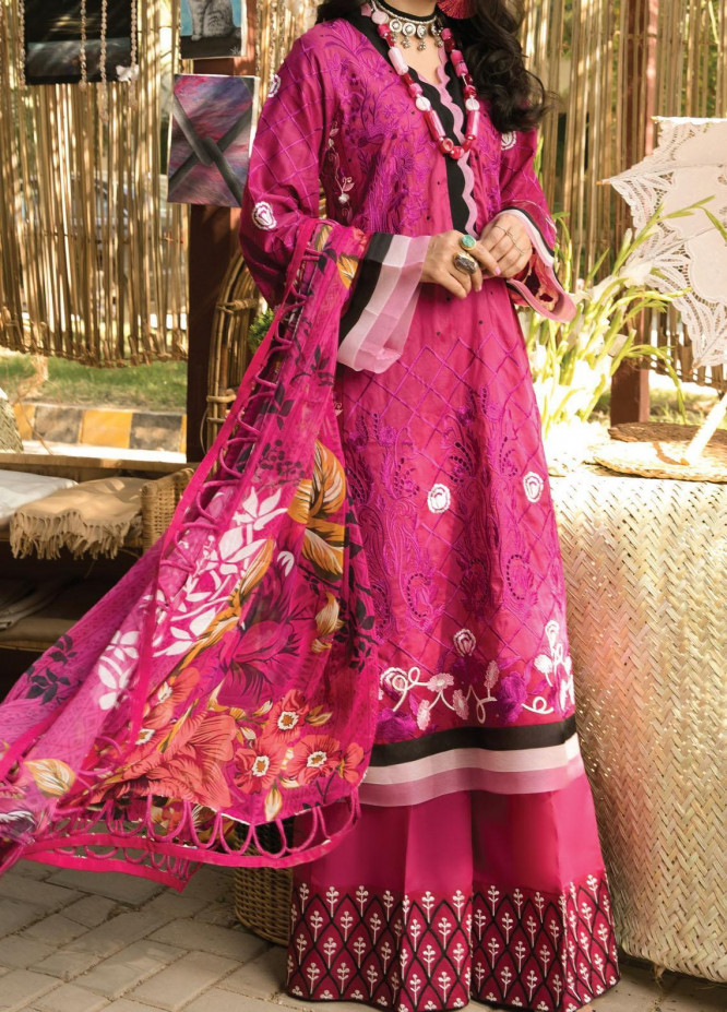 Zoha by Ansab Jahangir Embroidered Lawn Suits Unstitched 3 Piece ANJ21Z 03 Nohea - Summer Collection