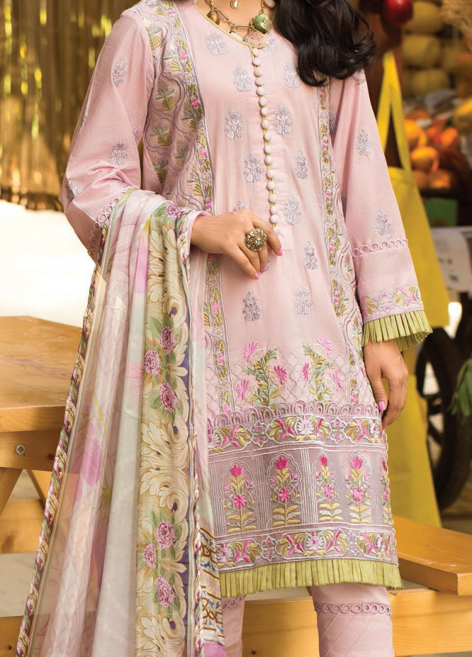 Zoha by Ansab Jahangir Embroidered Lawn Suits Unstitched 3 Piece ANJ21Z 05 Masika - Summer Collection