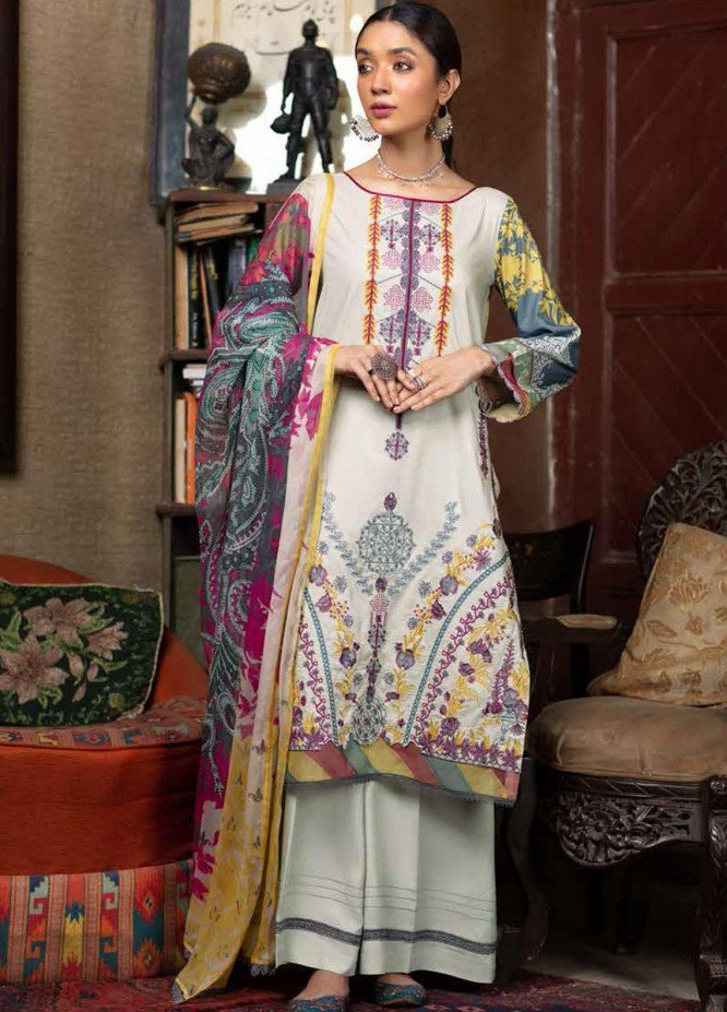 Zoya by Rang Rasiya Embroidered Linen Suits Unstitched 3 Piece RR21ZL 02 Mehar - Winter Collection