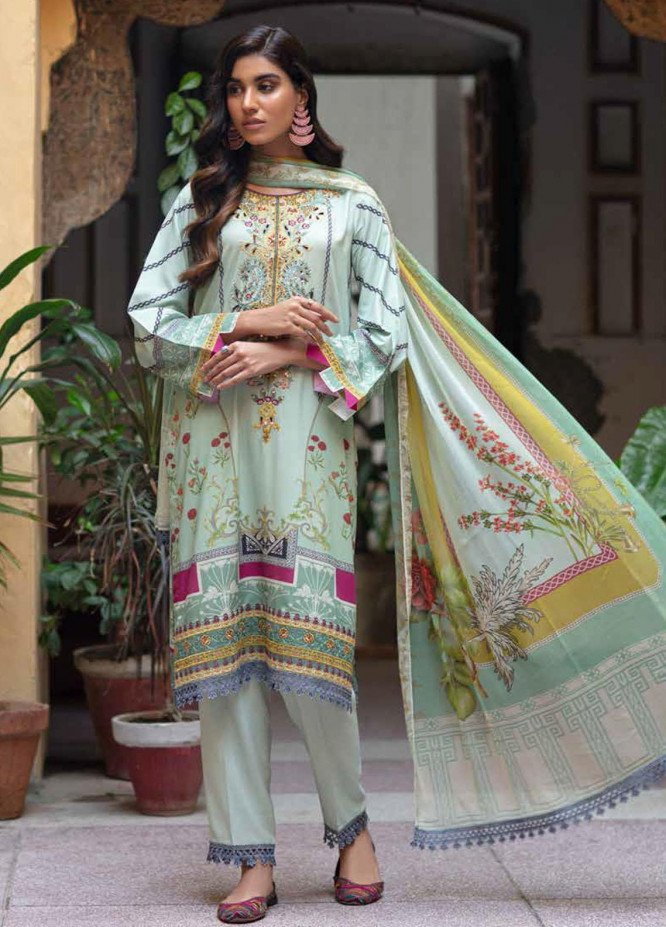Zoya by Rang Rasiya Embroidered Linen Suits Unstitched 3 Piece RR21ZL 03 Nigar - Winter Collection