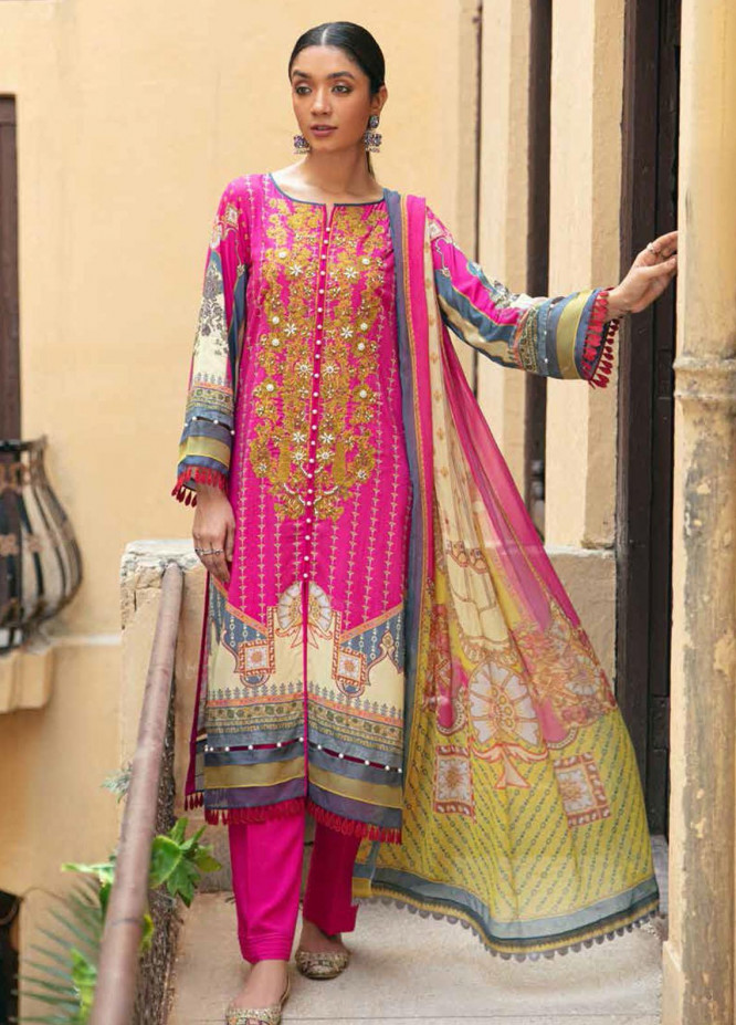 Zoya by Rang Rasiya Embroidered Linen Suits Unstitched 3 Piece RR21ZL 06 Terri - Winter Collection