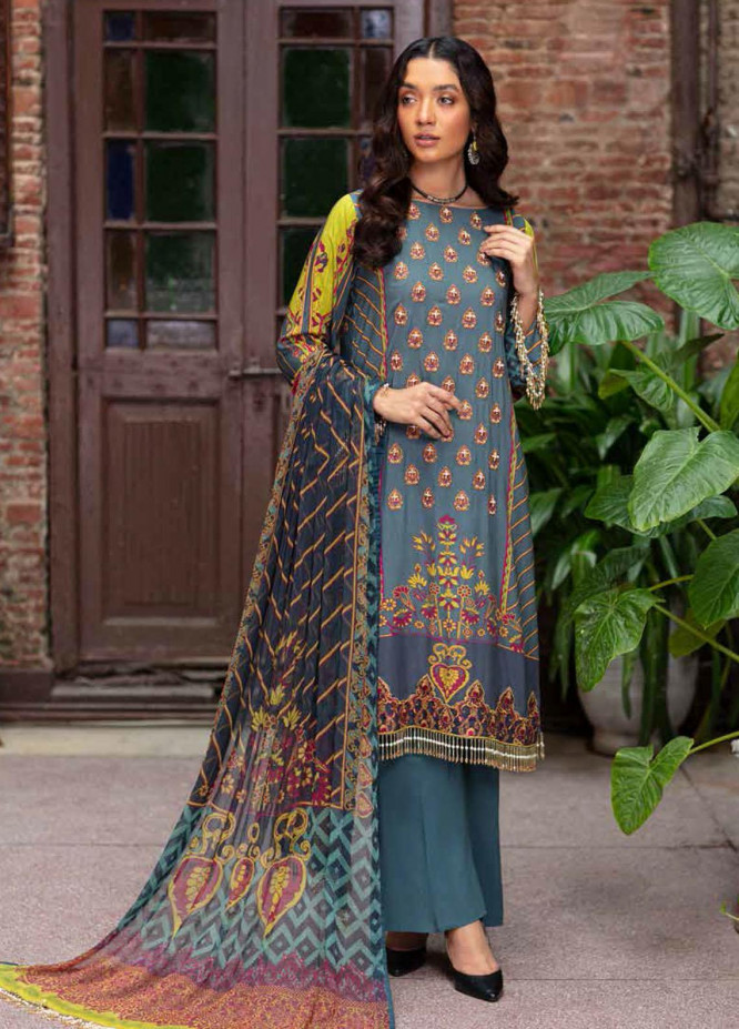 Zoya by Rang Rasiya Embroidered Linen Suits Unstitched 3 Piece RR21ZL 07 Sehr - Winter Collection