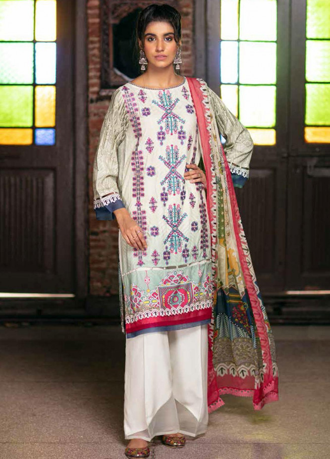 Zoya by Rang Rasiya Embroidered Linen Suits Unstitched 3 Piece RR21ZL 09 Tricot - Winter Collection