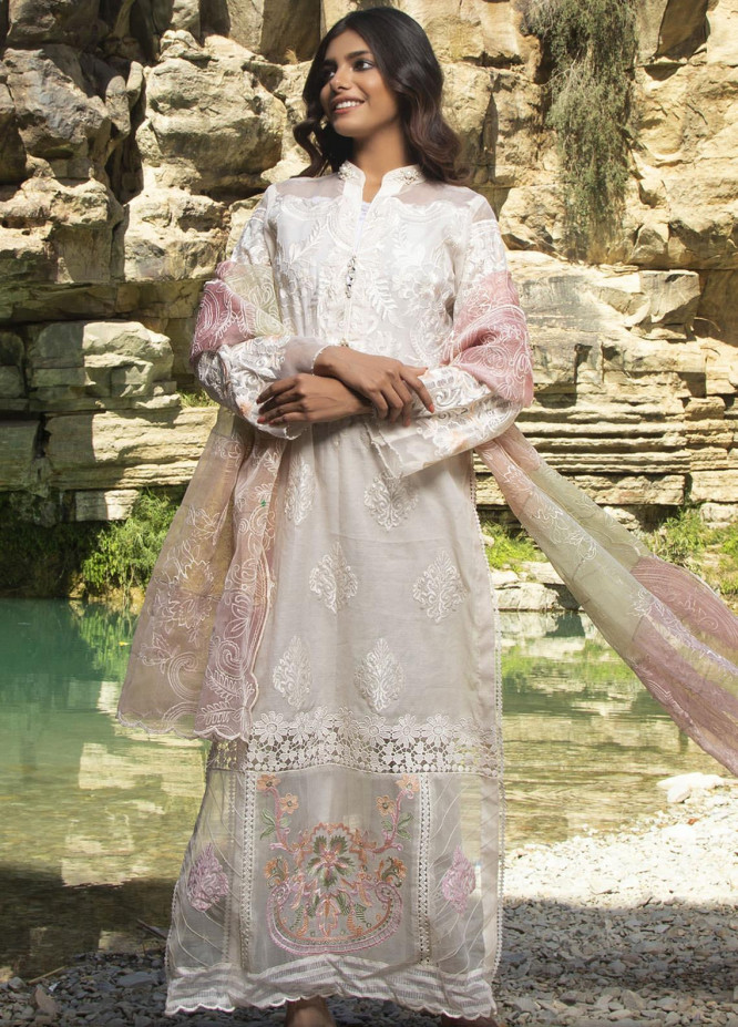 ZUNUJ Embroidered Lawn Suits Unstitched 3 Piece ZJ21FE D-02 - Festive Collection