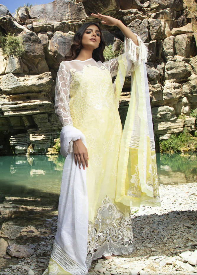ZUNUJ Embroidered Lawn Suits Unstitched 3 Piece ZJ21FE D-05 - Festive Collection