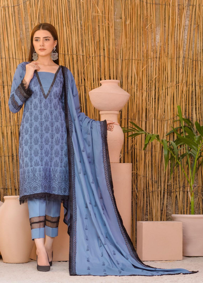 Zurr By AB Textiles Embroidered Lawn Suits Unstitched 3 Piece AB21ZCK 02 - Summer Collection