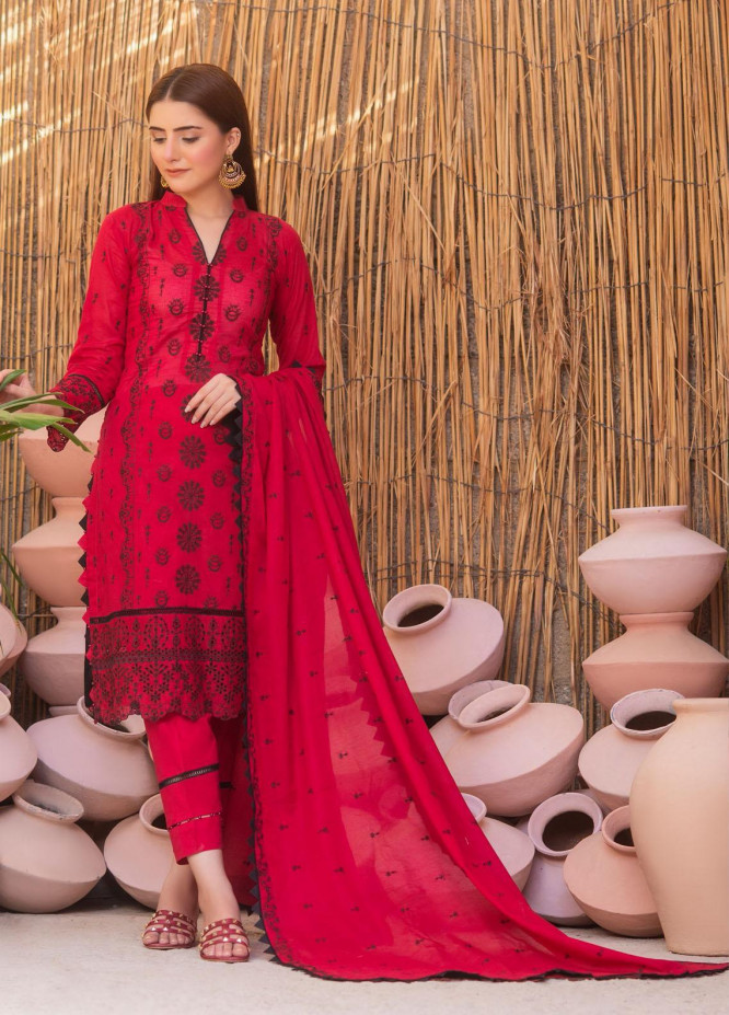 Zurr By AB Textiles Embroidered Lawn Suits Unstitched 3 Piece AB21ZCK 03 - Summer Collection