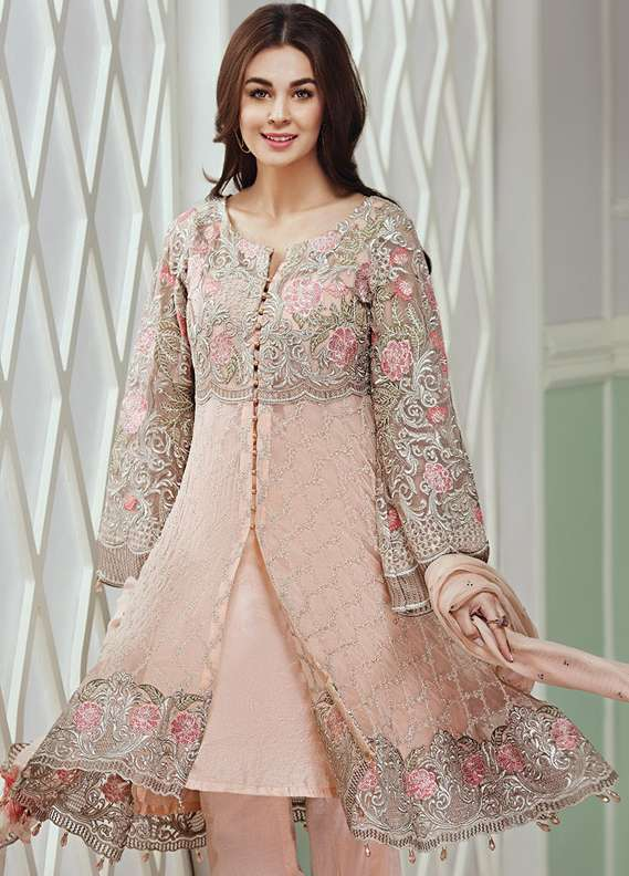 Baroque Embroidered Chiffon Unstitched 3 Piece Suit JZ18C 10 - Chiffon Collection