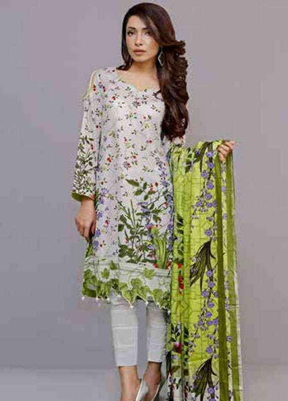 Al Zohaib Printed Lawn Unstitched 3 Piece Suit MN18L 1C - Spring / Summer Collection
