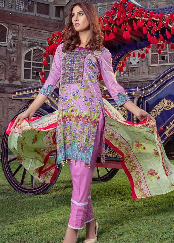 Monsoon Printed Lawn Unstitched 3 Piece Suit MN18L2 2A - Spring / Summer Collection