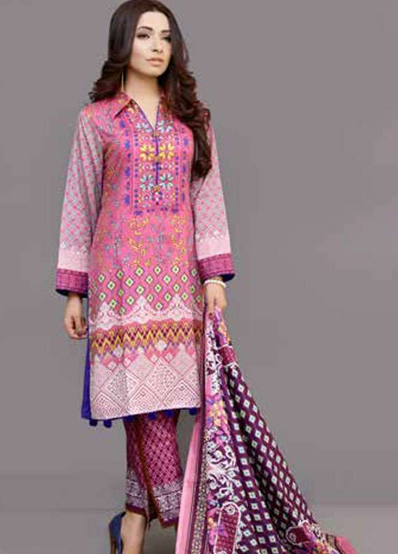 Al Zohaib Printed Lawn Unstitched 3 Piece Suit MN18L 2C - Spring / Summer Collection
