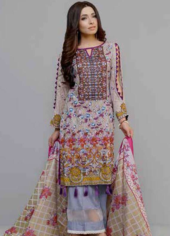 Monsoon Printed Lawn Unstitched 3 Piece Suit MN18L2 2C - Spring / Summer Collection
