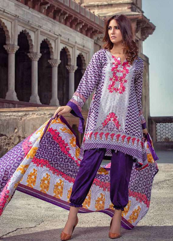 Monsoon Printed Lawn Unstitched 3 Piece Suit MN18L2 3B - Spring / Summer Collection