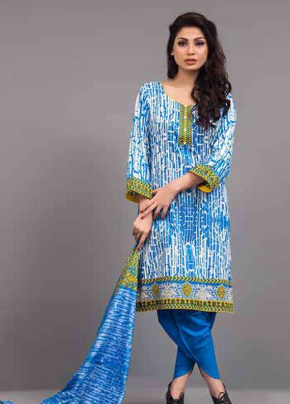 Al Zohaib Printed Lawn Unstitched 3 Piece Suit MN18L 3C - Spring / Summer Collection