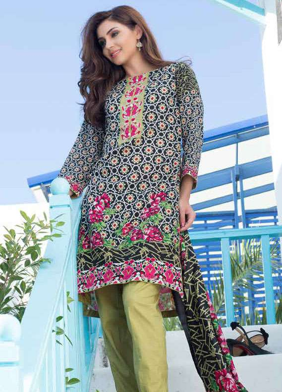 Al Zohaib Printed Lawn Unstitched 3 Piece Suit MN18L 4B - Spring / Summer Collection