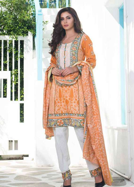 Al Zohaib Printed Lawn Unstitched 3 Piece Suit MN18L 5A - Spring / Summer Collection