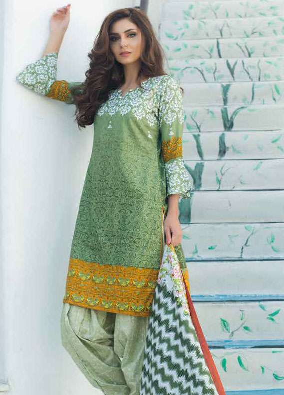 Al Zohaib Printed Lawn Unstitched 3 Piece Suit MN18L 6B - Spring / Summer Collection