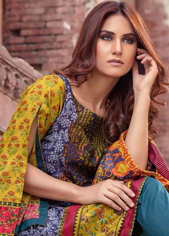 Monsoon Printed Lawn Unstitched 3 Piece Suit MN18L2 7A - Spring / Summer Collection