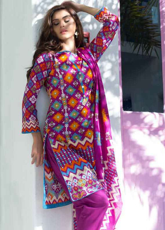 Al Zohaib Printed Lawn Unstitched 3 Piece Suit MN18L 7B - Spring / Summer Collection