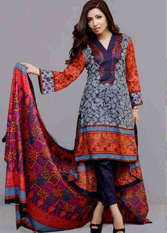 Monsoon Printed Lawn Unstitched 3 Piece Suit MN18L2 7C - Spring / Summer Collection