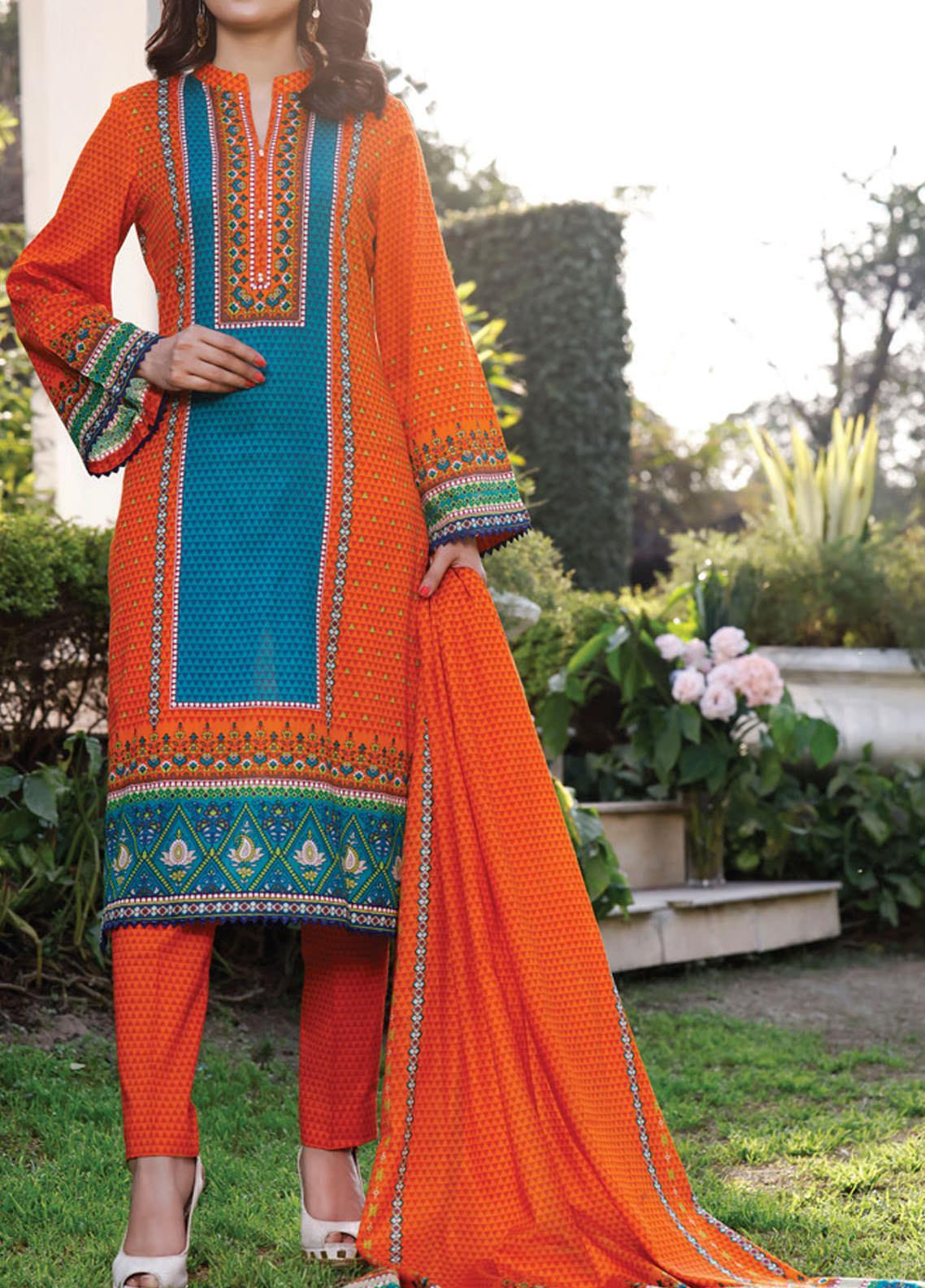 Daman by VS Textiles Printed Lawn Suits Unstitched 3 Piece VS21DL-3 1326A - Summer Collection