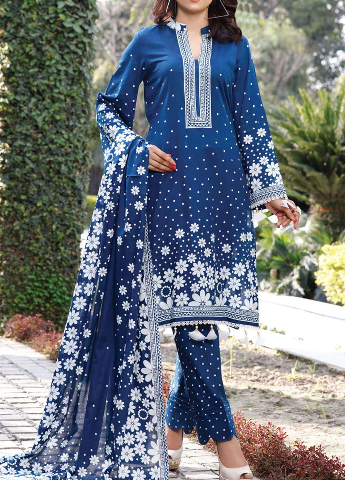 Daman by VS Textiles Printed Lawn Suits Unstitched 3 Piece VS21DL-3 1329B - Summer Collection
