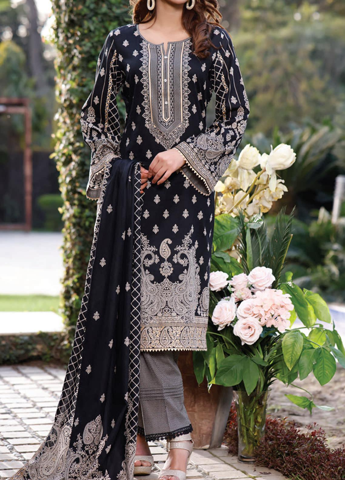 Daman by VS Textiles Printed Lawn Suits Unstitched 3 Piece VS21DL-3 1331A - Summer Collection