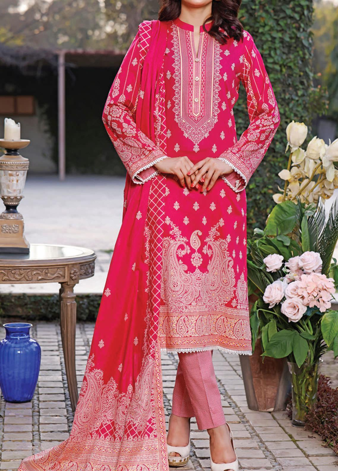 Daman by VS Textiles Printed Lawn Suits Unstitched 3 Piece VS21DL-3 1331B - Summer Collection