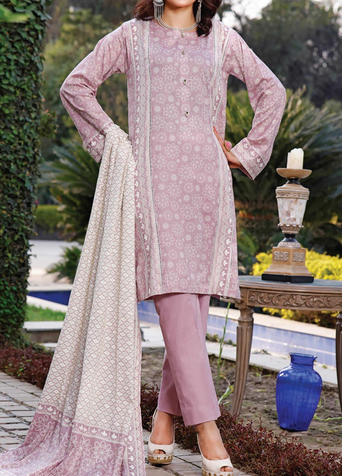 Daman by VS Textiles Printed Lawn Suits Unstitched 3 Piece VS21DL-3 1332A - Summer Collection