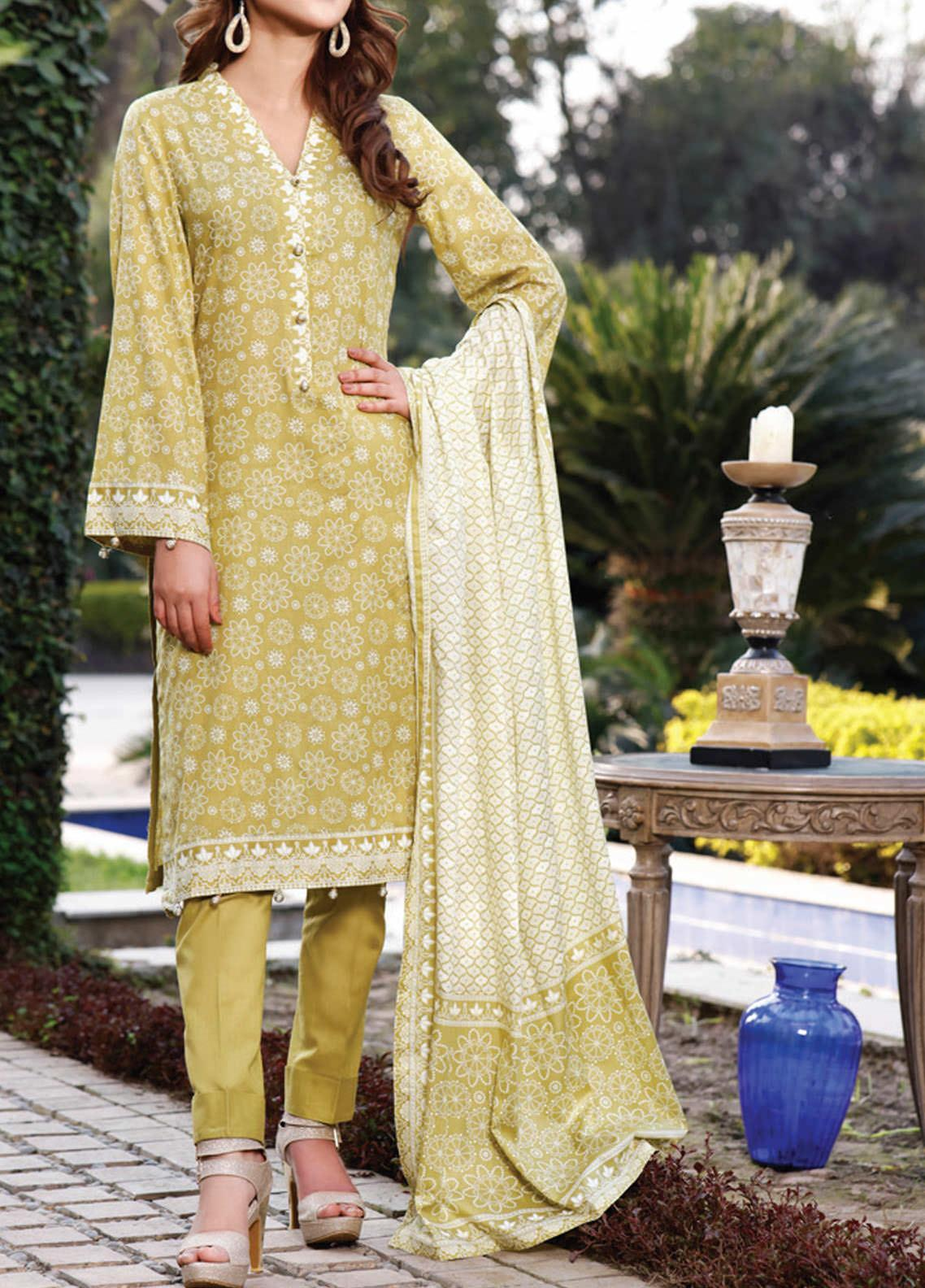 Daman by VS Textiles Printed Lawn Suits Unstitched 3 Piece VS21DL-3 1332B - Summer Collection