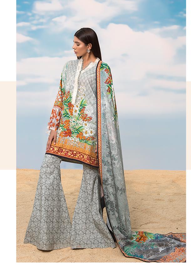 Sapphire Embroidered Khaddar Unstitched 3 Piece Suit SP17W Dazzling Elegance A