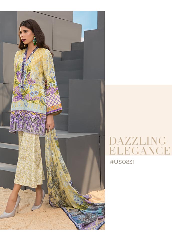 Sapphire Embroidered Khaddar Unstitched 3 Piece Suit SP17W Dazzling Elegance B