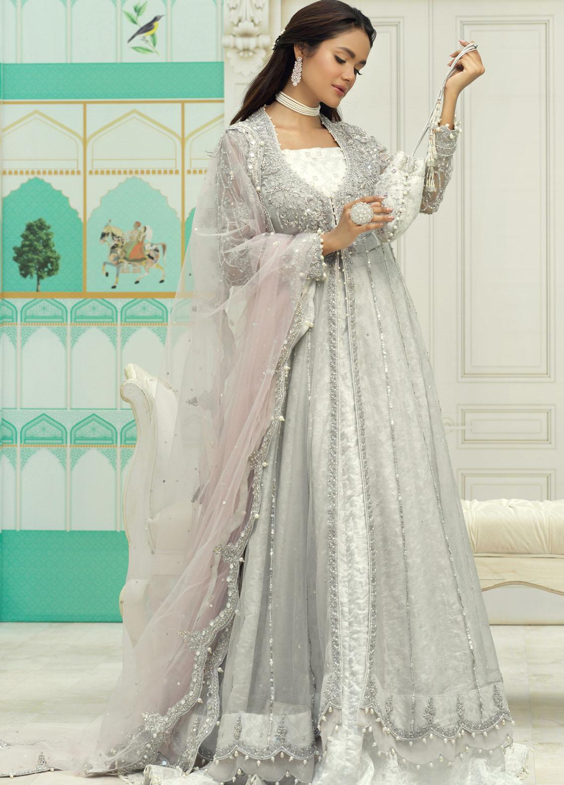 Zaaviay Luxury Pret Embroidered Net 3 Piece Dress FARA