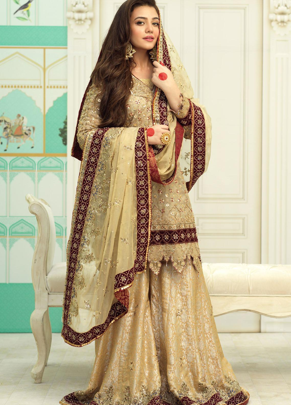 Zaaviay Luxury Pret Embroidered Net 3 Piece Dress GULNAAZ