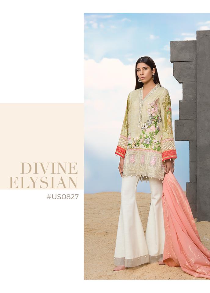 Sapphire Embroidered Khaddar Unstitched 3 Piece Suit SP17W Divine Elysian