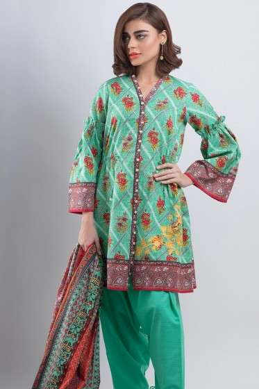 Zeen By Cambridge Embroidered Linen Unstitched 3 Piece Suit ED17W 377014