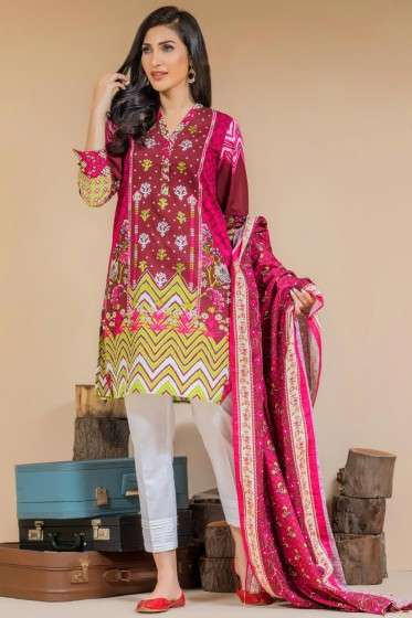 Zeen By Cambridge Embroidered Linen Unstitched 3 Piece Suit ED17W 377017