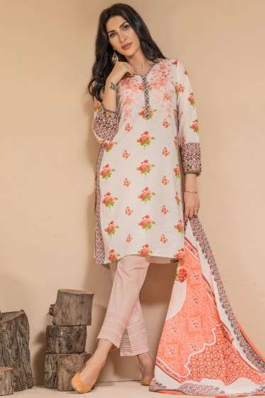 Zeen By Cambridge Embroidered Linen Unstitched 3 Piece Suit ED17W 377018