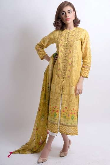 Zeen By Cambridge Embroidered Linen Unstitched 3 Piece Suit ED17W 377032