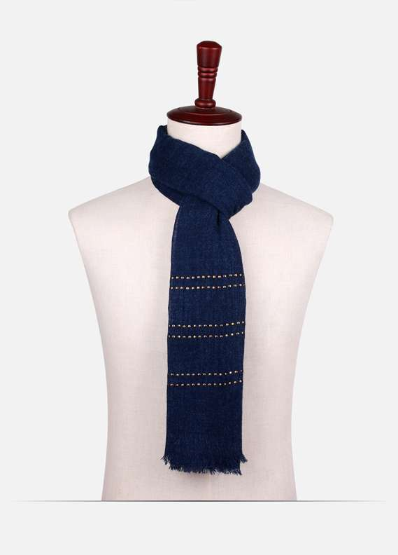Blue Stone Work Wool Stoles for ladies - ED18W 127